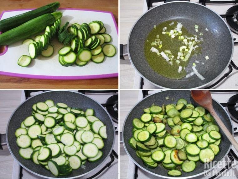 Torta rustica con zucchine e wurstel 2