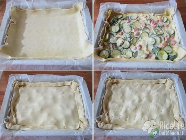 Torta rustica con zucchine e wurstel 5