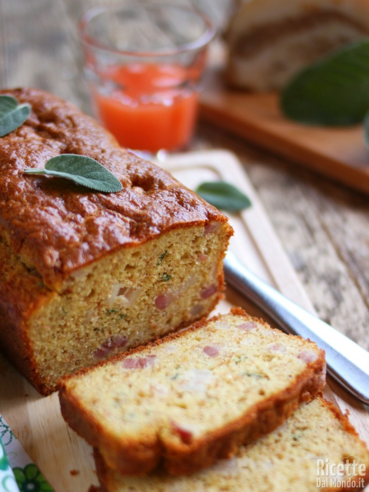 Plumcake Integrale con Pancetta e Salvia