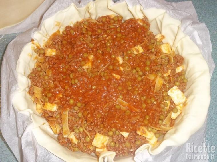 Pasticcio di Tagliatelle in Crosta