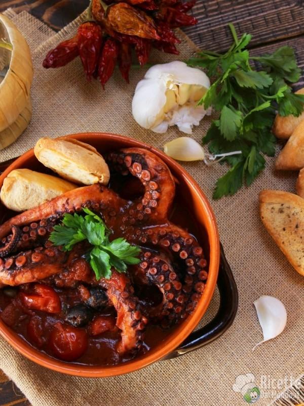 Polpo alla Luciana, ricetta tradizionale