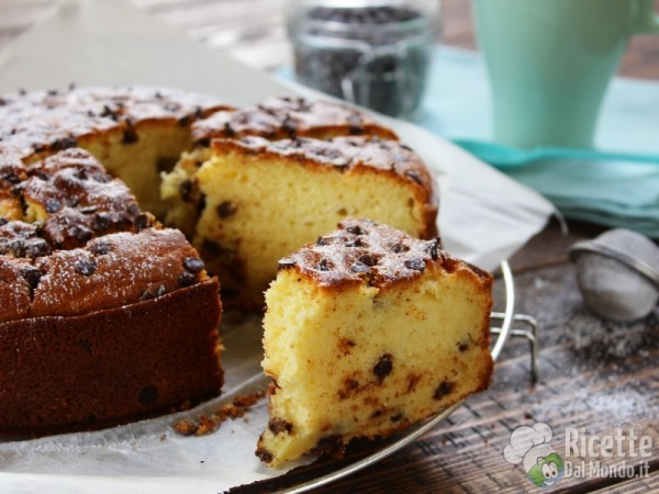 Semplice torta ricotta e cioccolato
