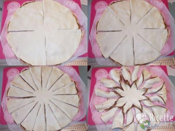 Fiore di Pasta Sfoglia alla Nutella 4