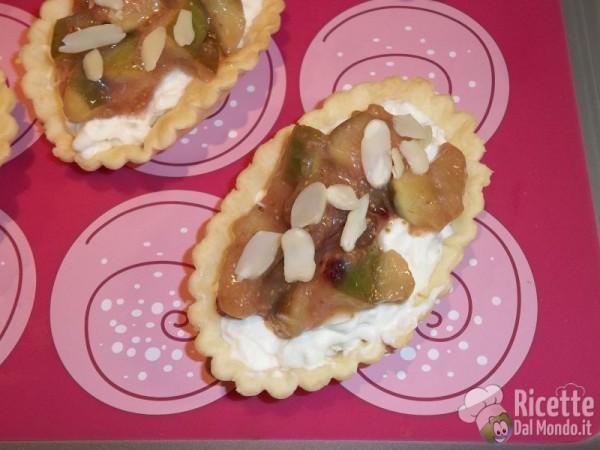 Tartellette con mascarpone e fichi caramellati 10
