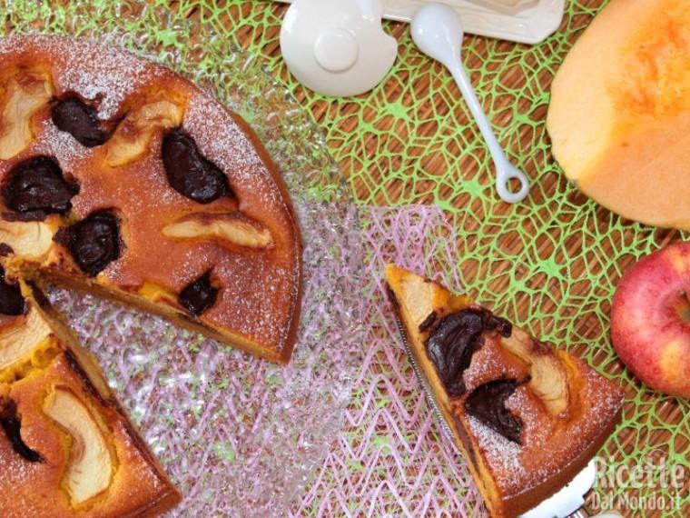 Ricetta torta di mele, zucca e Nutella