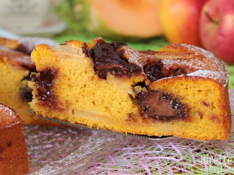 Torta di mele, zucca e Nutella soffice