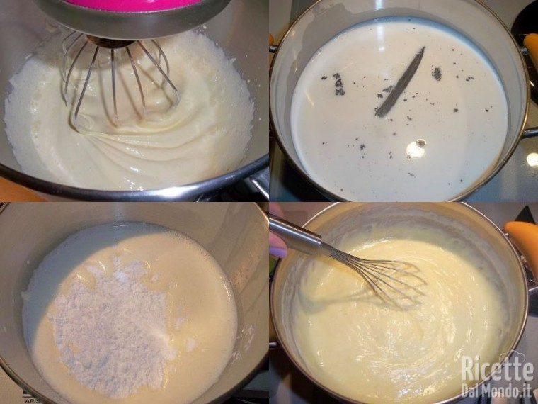 Torta con crema e pinoli 4