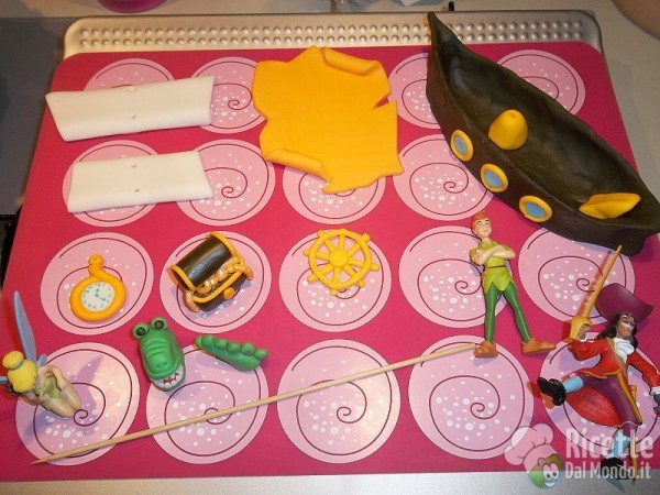Torta di compleanno di pasta di zucchero 11