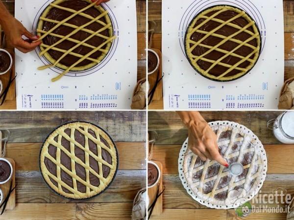 Crostata di pasta frolla con Nutella morbidissima 6