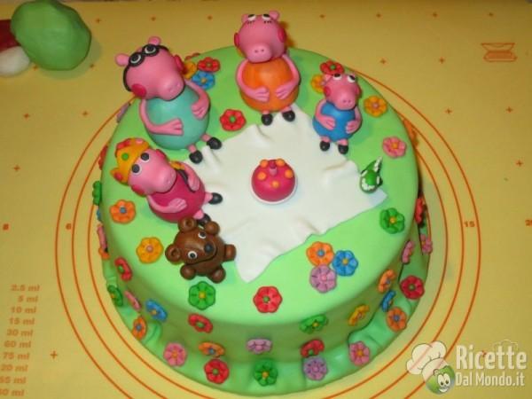 Torta Di Peppa Pig In Pasta Di Zucchero