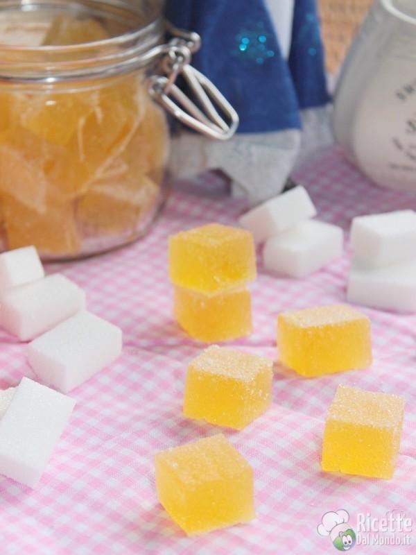 Come fare le caramelle gelèe all'arancia