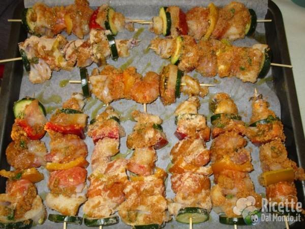 Spiedini di pesce al forno for Spiedini di pesce gratinati