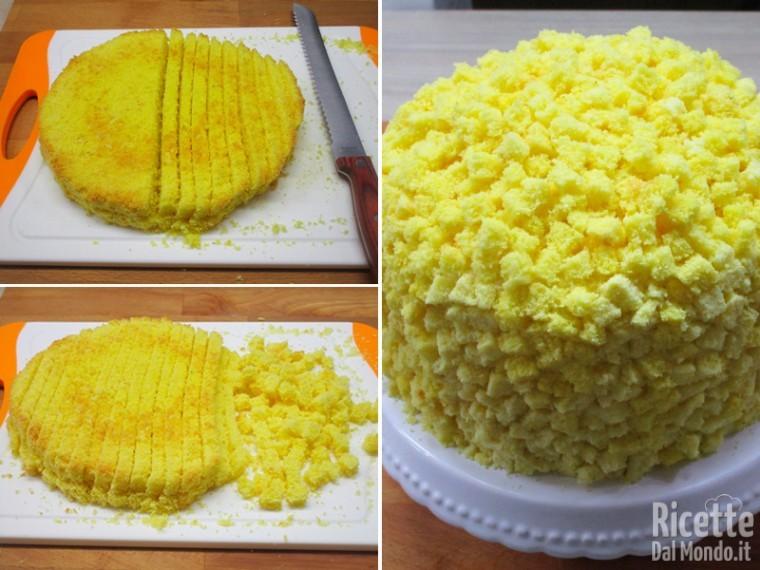 Farcire la torta mimosa 13