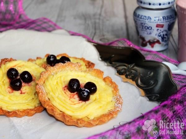 Ricetta crostatine alla crema Bimby - Come fare le crostatine alla crema Bimby