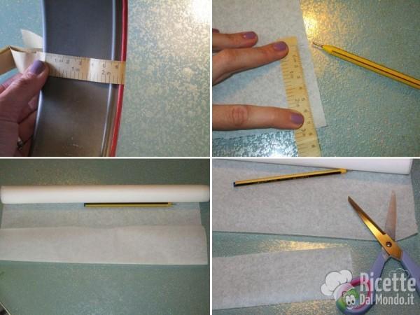 Come foderare una tortiera con carta forno 3