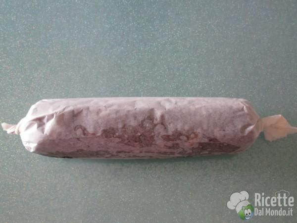 Salame al cioccolato senza uova 10