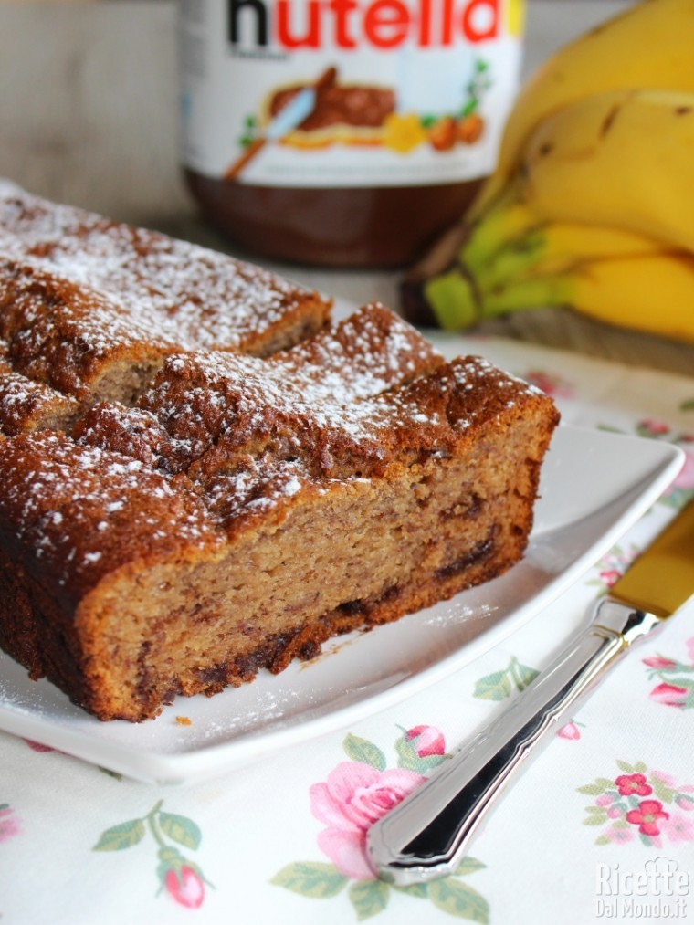 Come fare la banana e Nutella cake