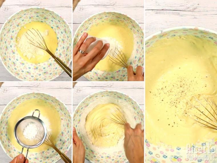 Aggiungete gli ingredienti secchi