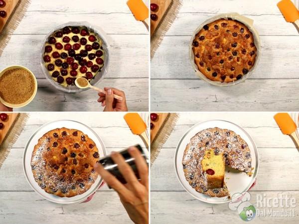 Torta soffice con le ciliegie 8