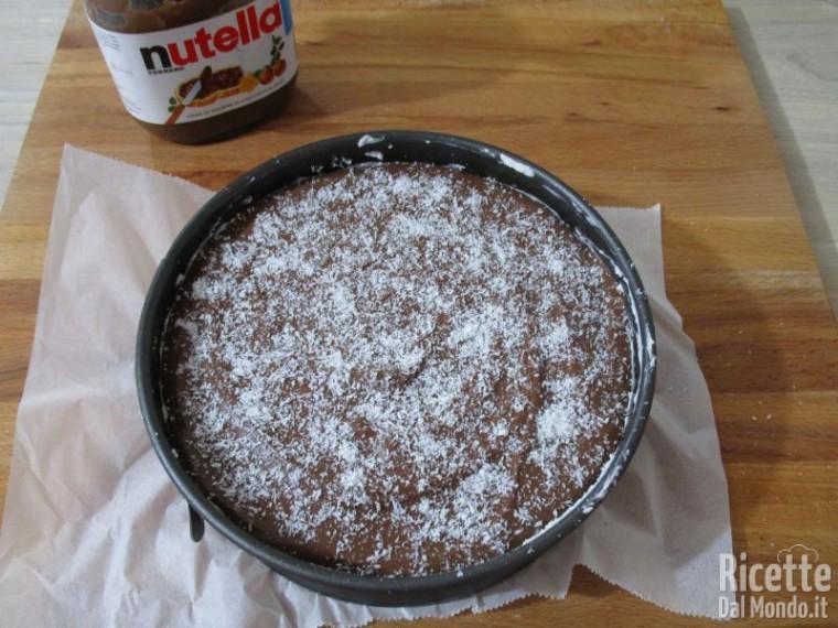 Cheesecake cocco e Nutella 7