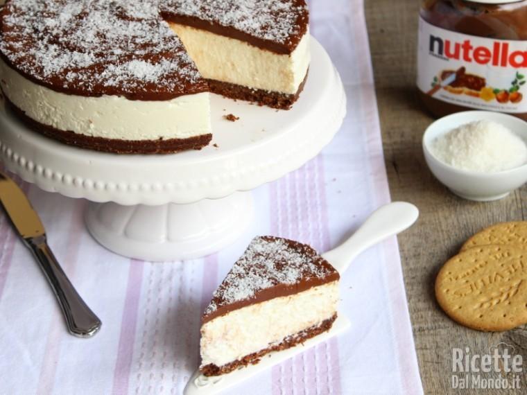 Ricetta torta nutella mascarpone e cocco