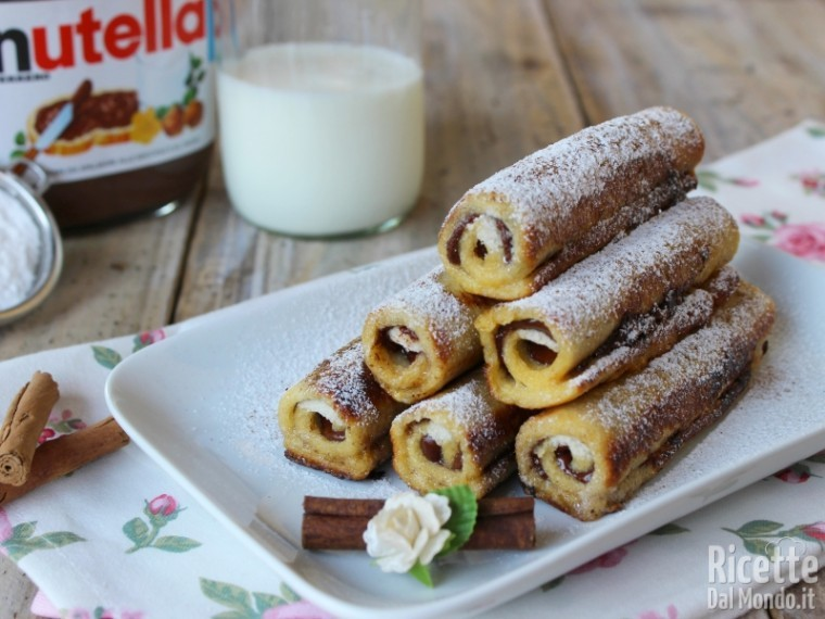 Ricetta french toast roll ups