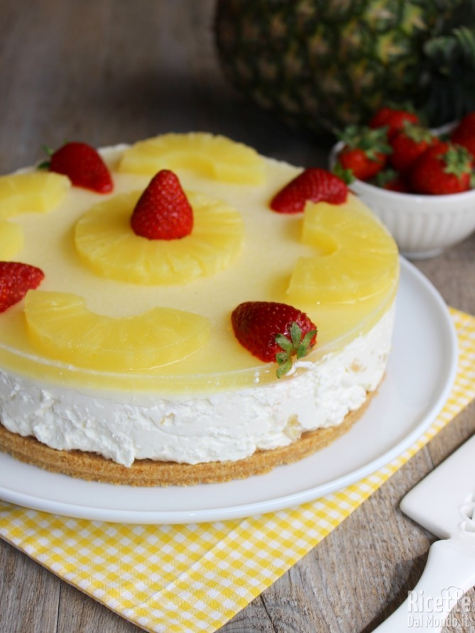 Come fare la cheesecake all'ananas