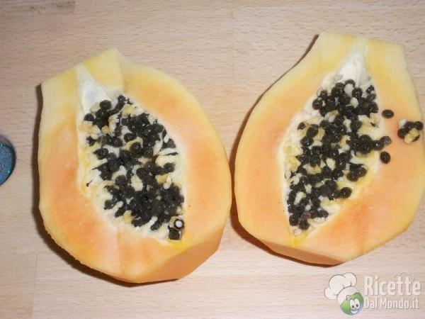 Come pulire e tagliare la papaya 7