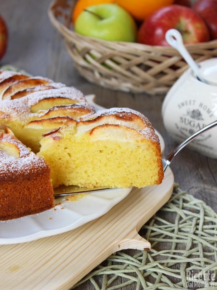 Torta di mele senza burro latte e uova ricettedalmondo - Immagini stampabili di mele ...
