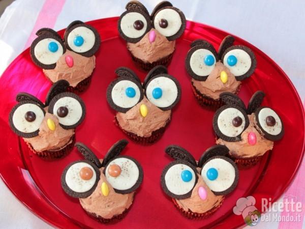 Ricetta cupcakes gufetto
