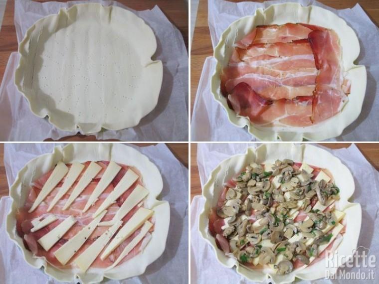 Torta rustica speck, funghi e fontina 3