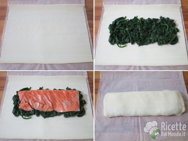 Strudel di salmone e spinaci 3