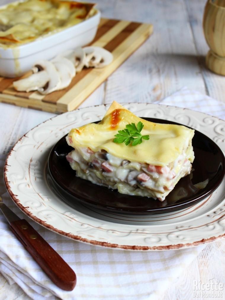 Come fare le lasagne ai funghi