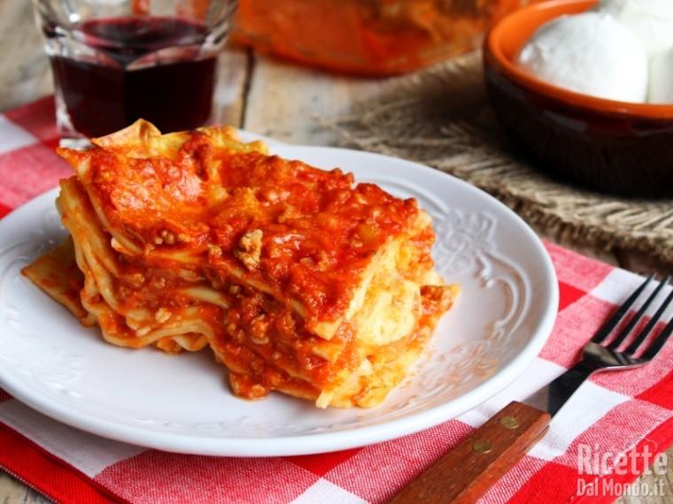 Lasagne ricce con mozzarella di bufala campana