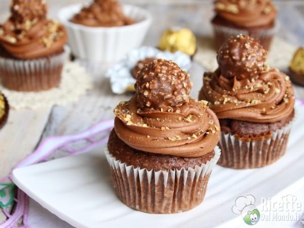 Cupcakes al Ferrero Rocher e Nutella