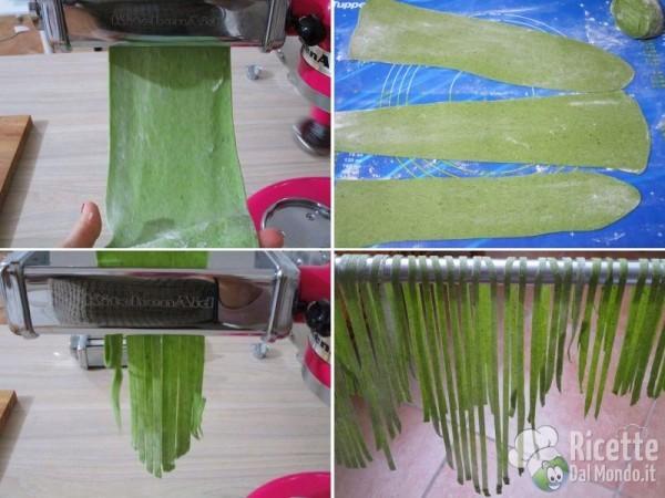 Tagliatelle verdi agli spinaci 3