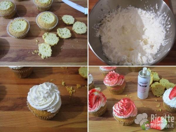 Cupcakes panna e fragole 4