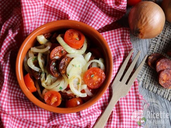 Insalata tiepida di chorizo spagnola