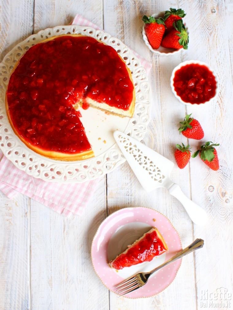 Come fare la cheesecake cotta alle fragole