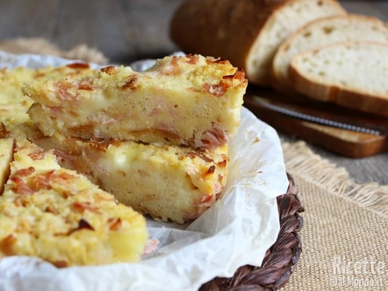 Ricetta torta di pane salata