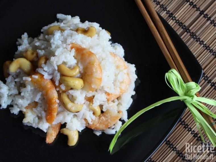 Ricetta riso jasmine al latte di cocco