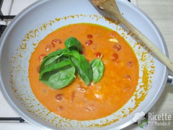 Linguine integrali con salsa rosa 3