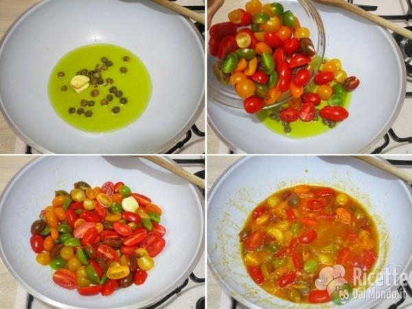 Spaghetti con colatura di alici e pomodorini 4