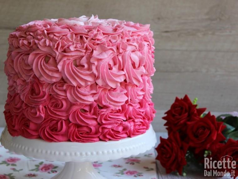 Pink rose cake americana