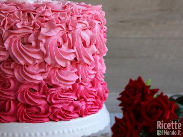 Pink rose cake, torta delle rose