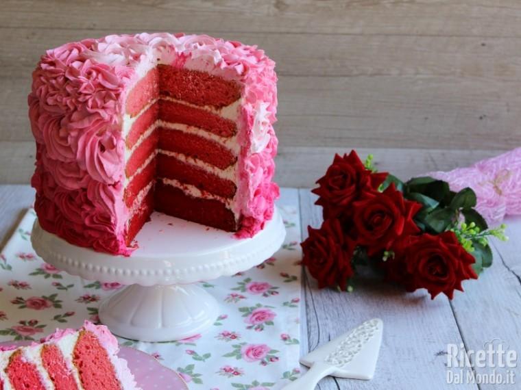 Pink rose cake di Martha Stewart