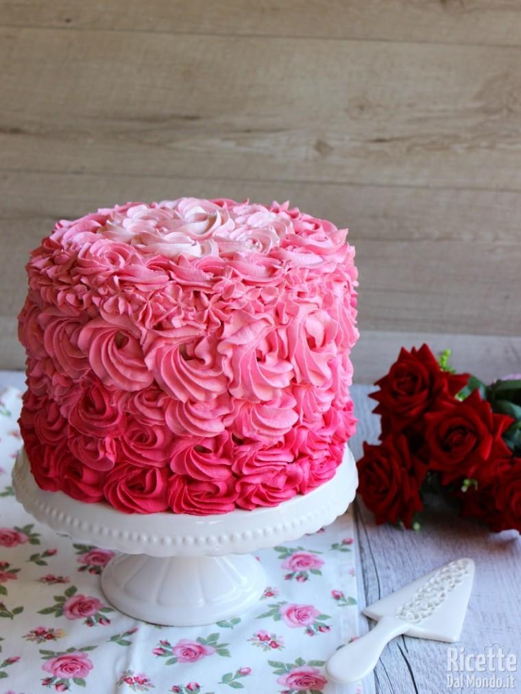 Ricetta pink rose cake