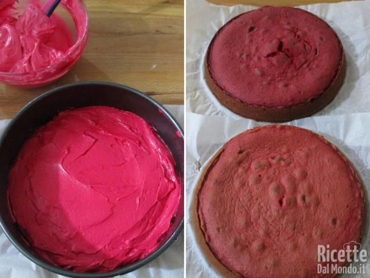 Pink rose cake 5