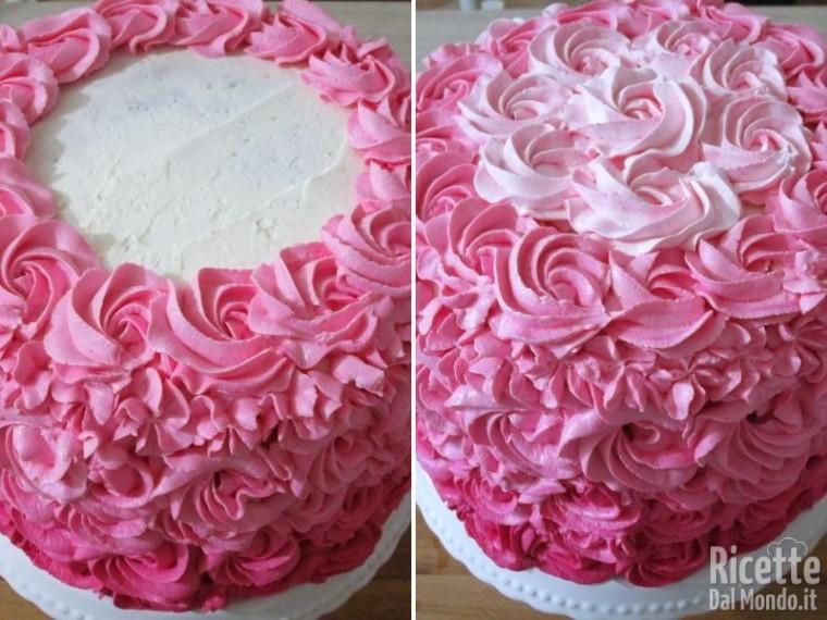 Pink rose cake 10