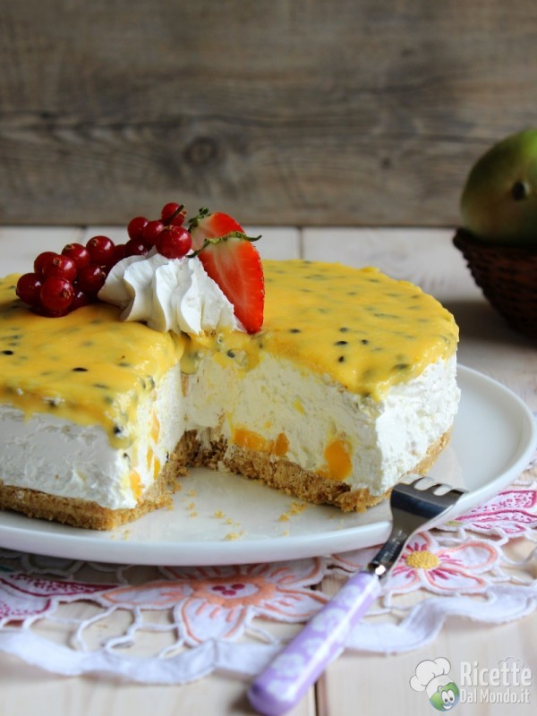 Cheesecake al mango e fruit passion